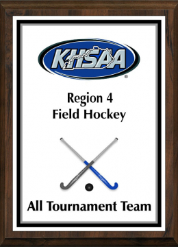 KHSAA Field Hockey Color Regional All Tournament/MVP Plaques