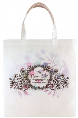 Color Imprinted White Canvas Tote Bag
