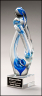 "4"" x 12"" Art Glass Sculpture - 2297"