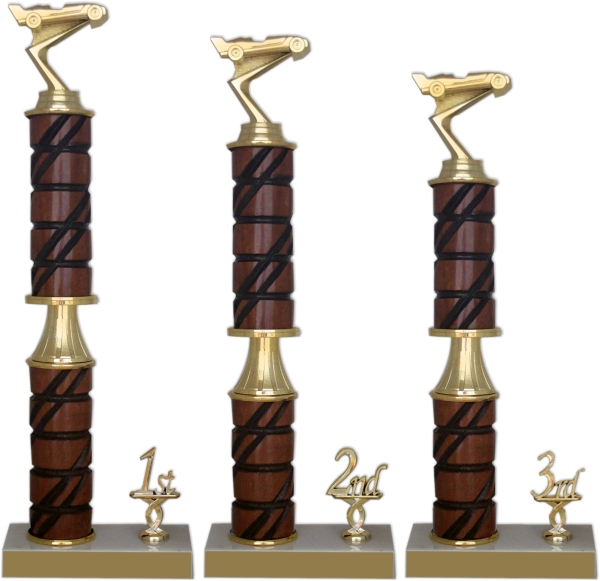 xxxPinewood Derby Walnut & Marble Trophy Package - 23825-PACK