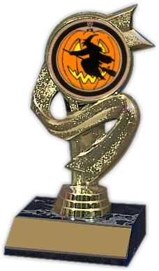 "6-inch Halloween ""Flowing Ribbon"" Trophy - 3255-H"