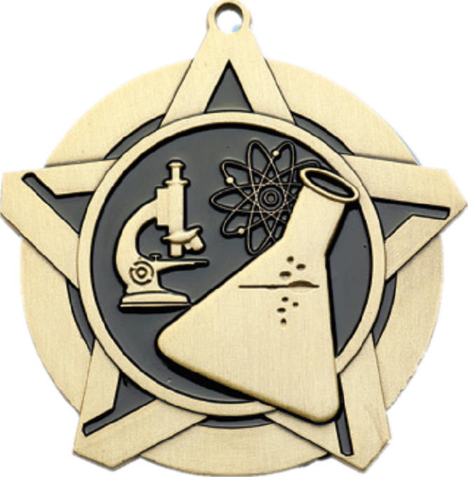 "2-1/4"" Science Star Medallion - 43002-NR"