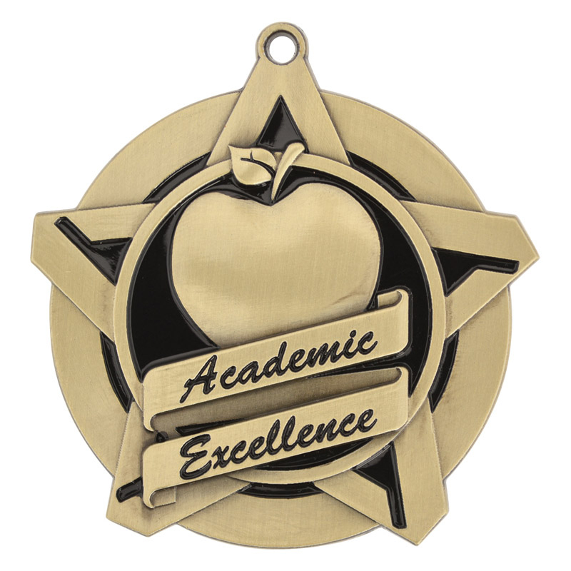 "2-1/4"" Academic Excellence Star Medallion - 43029-NR"