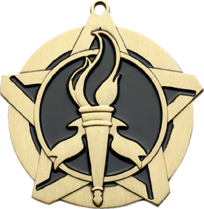 "2-1/4"" Victory Star Medallion - 43050-NR"