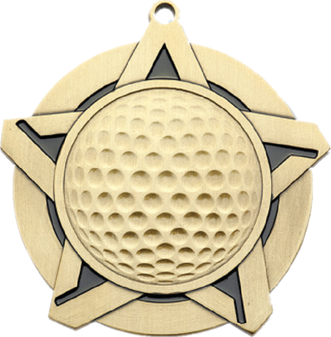 "2-1/4"" Golf Star Medallion - 43060-NR"