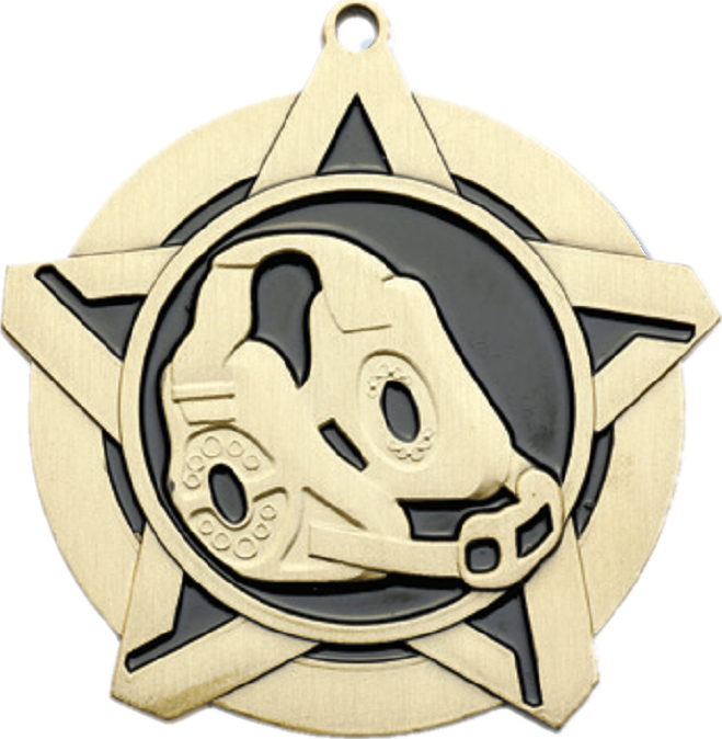 "2-1/4"" Wrestling Star Medallion - 43080-NR"