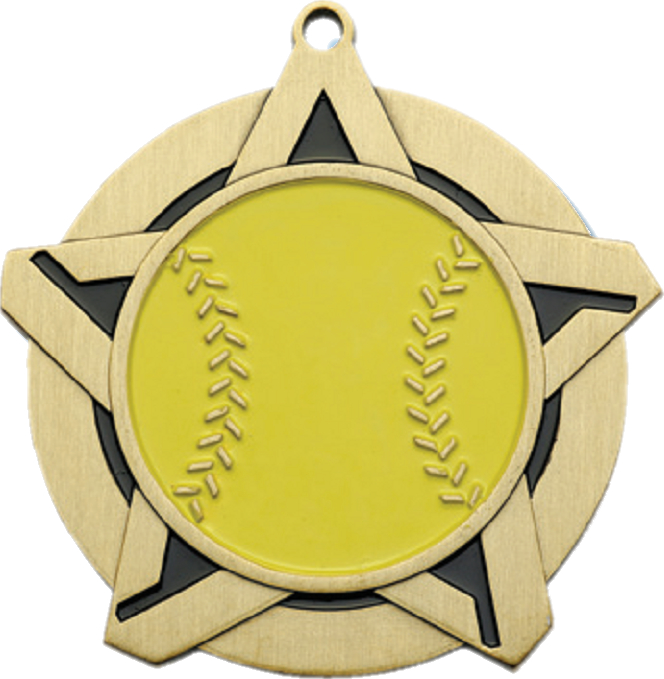 "2-1/4"" Softball Star Medallion - 43131-NR"