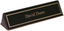Black Stain Piano-Finish Desk Nameplate  - 556