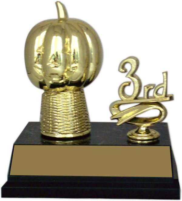 "Halloween ""Mounted Figure with Side Trim"" Trophy - 8043-H"