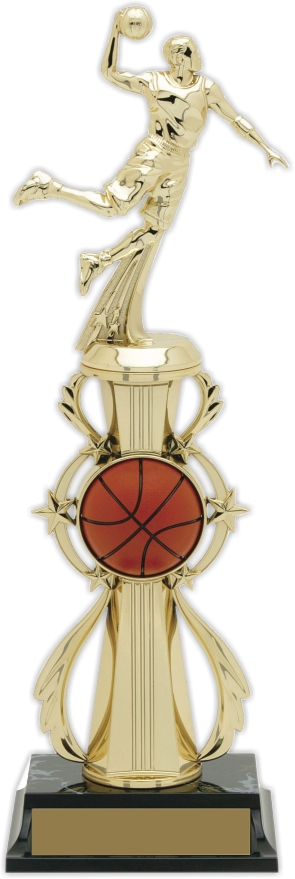 13-inch Male Basketball Player Trophy - 96505