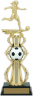 13-inch Female Soccer Riser Trophy - 96514