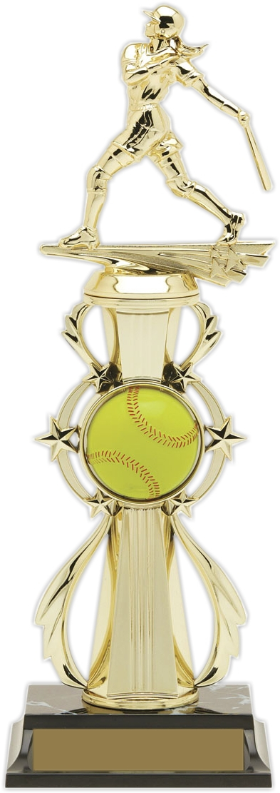"13-inch Softball ""Double Play"" Trophy - 96520"