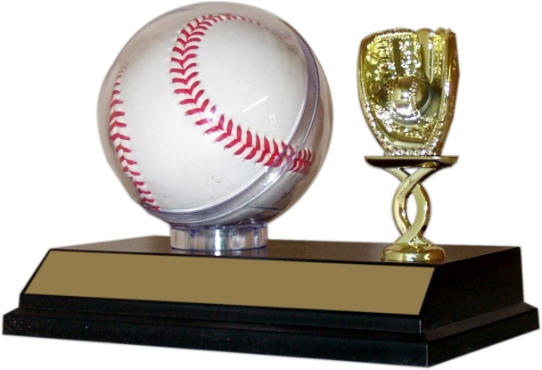 Baseball Globe Holder Trophy - BBC63