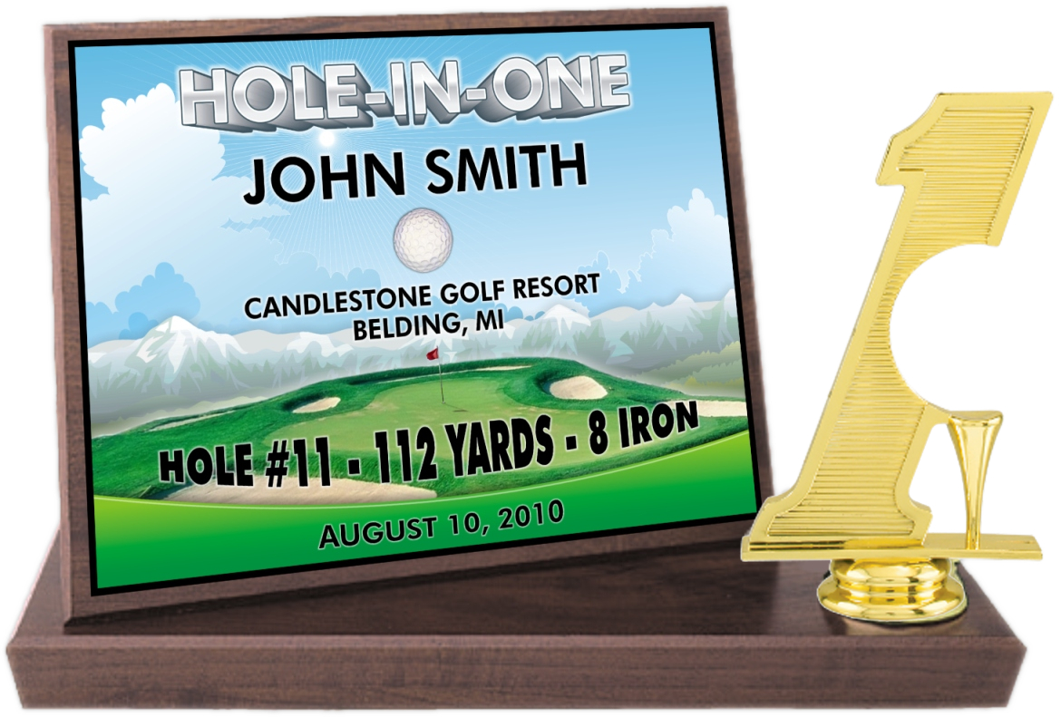 xxxHole-in-One Color Billboard Trophy - BCFS7