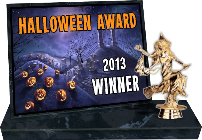 xxxHalloween Award Black Marblized Billboard