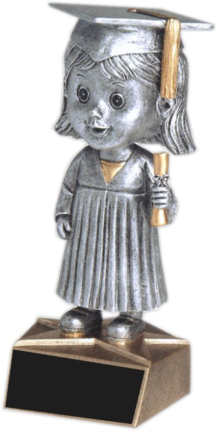 Female Graduate Bobble Head - BH-542