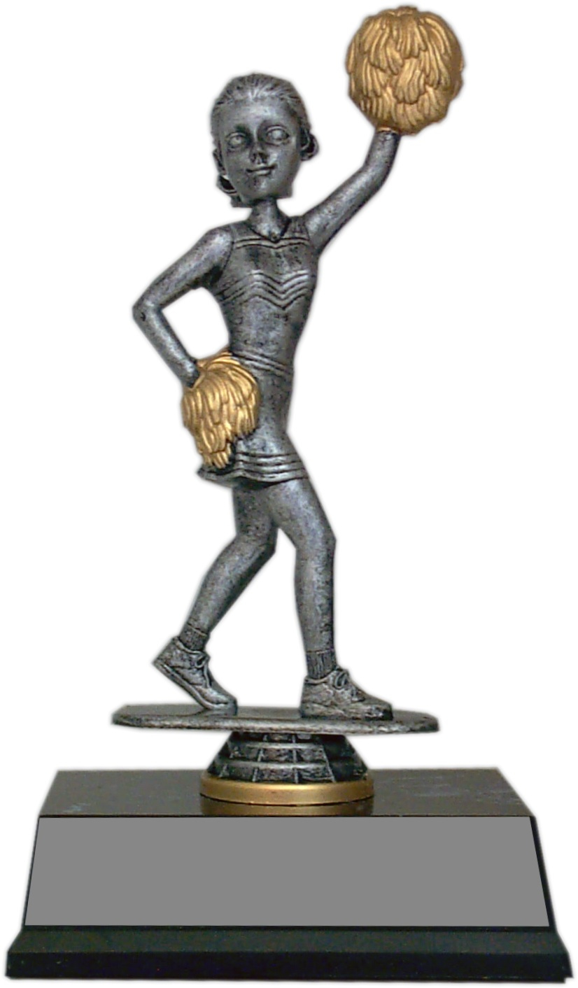 Bobble Head Trophy - Cheerleader - BHT43-CH