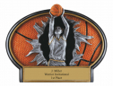 Female Basketball Burst Thru Resin - BT758