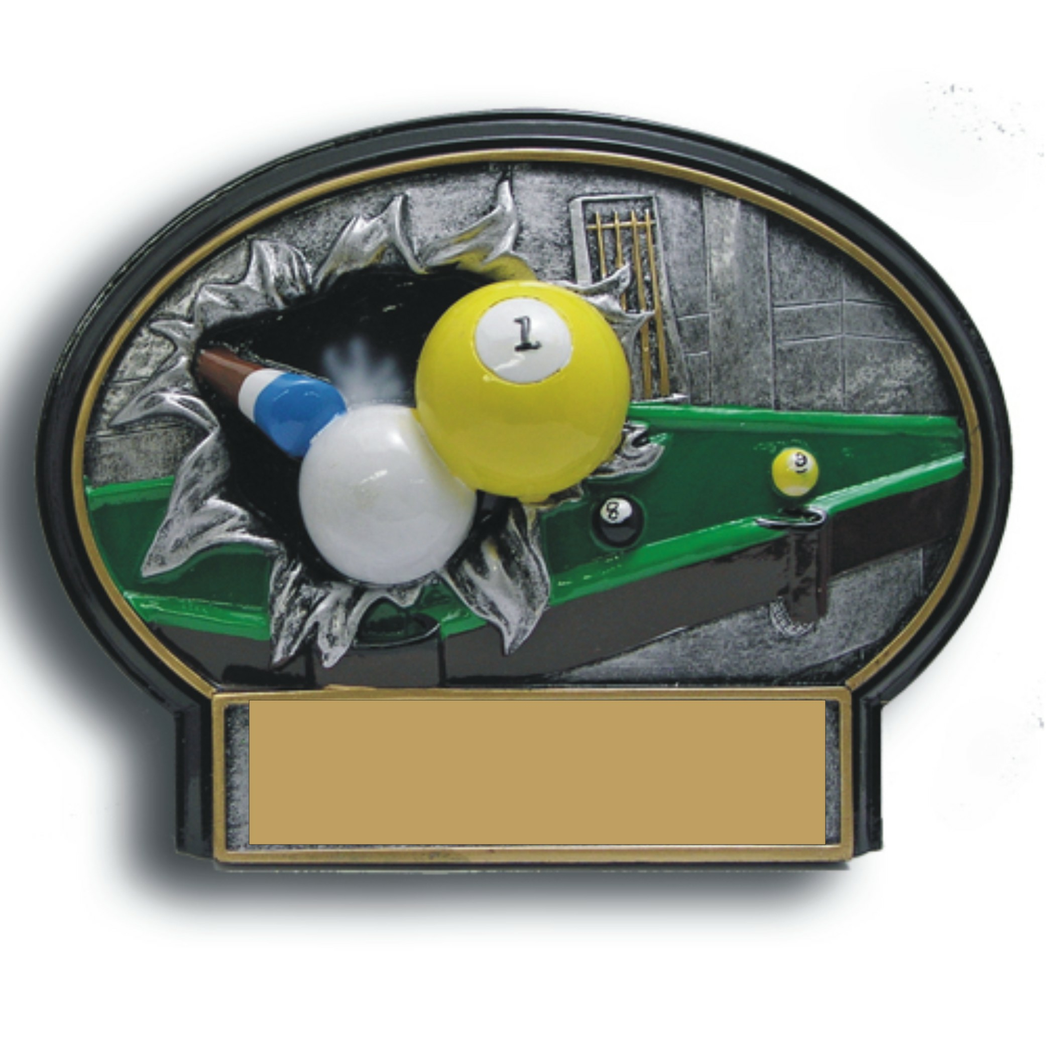 Billiards Burst Thru Resin - BT761