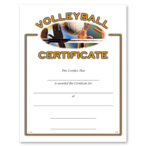 Volleyball Certificate - CE-242