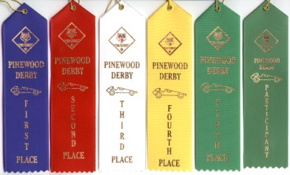xxxPinewood Derby Ribbon