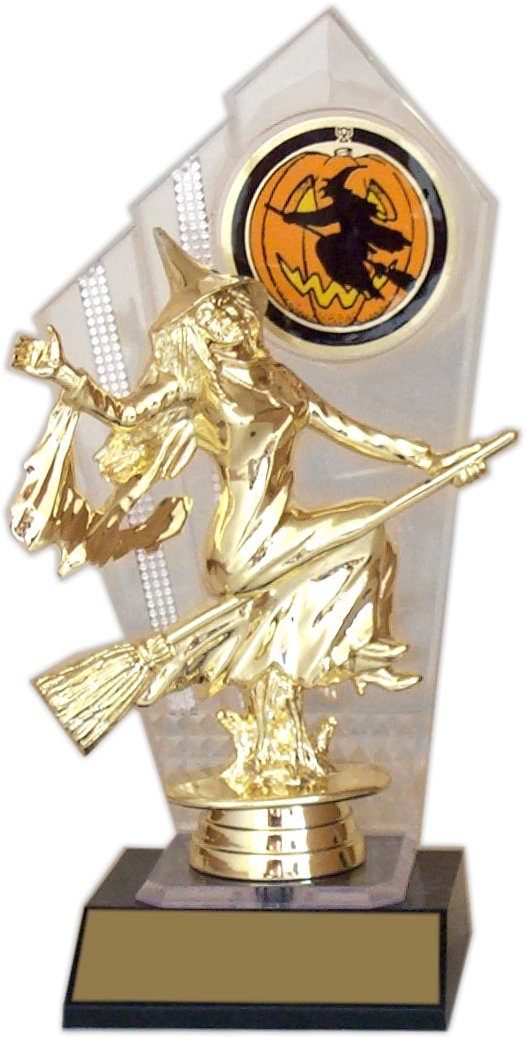 "8-inch Halloween ""Clear Backdrop"" Trophy - DB-11-H"