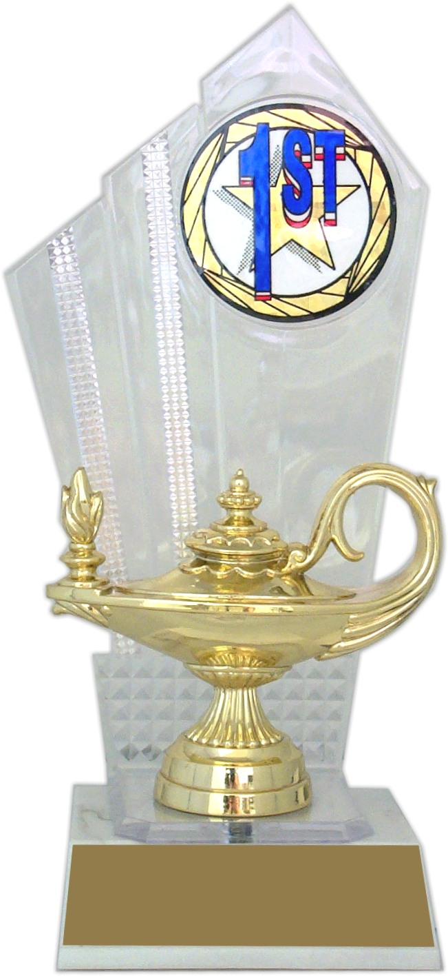"8-inch ""Clear Backdrop"" Trophy - DB-11"