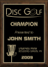xxxDisc Golf Plaque