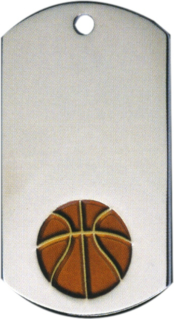 Basketball Dog Tag Key Ring - DT39020-KR