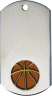 Basketball Dog Tag Medal - DT39020