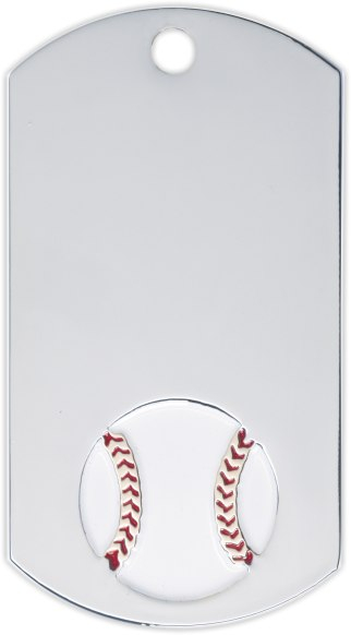 Baseball Dog Tag Key Ring - DT39130-KR