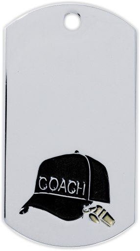 Coach Dog Tag Medal - DT39536