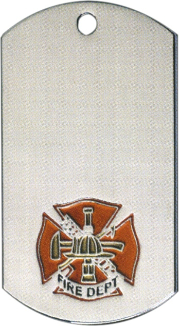 Fire Dept. Dog Tag Medal - DT39568