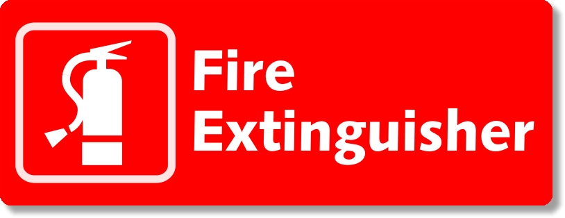 xxxFire Extinguisher Sign