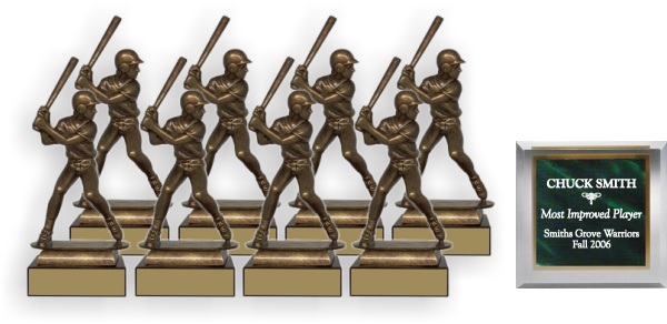 Baseball/Softball Grand Slam Trophy Package - FM34BA - FM34BA-PACK