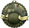 "2"" Basketball ""Banner Ribbon Burst"" Medallion - G1M02-NR"