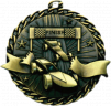 "2"" Pinewood Derby ""Banner Ribbon Burst"" Medallion - G1M12-NR"