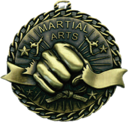 "2"" Martial Arts ""Banner Ribbon Burst"" Medallion - G1M22-NR"