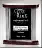 "7-7/8"" x 8-1/2"" Black Glass Award - G2692"