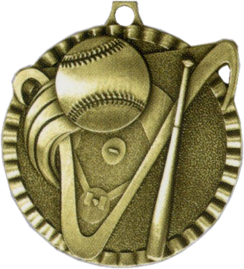 "2"" Baseball Medallion - G2M01-NR"