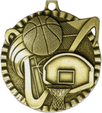 "2"" Basketball Medallion - G2M02-NR"