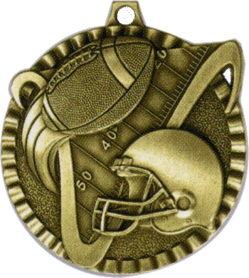 "2"" Football Medallion - G2M06-NR"