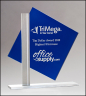 "8"" x 8-3/8"" Blue Diamond Shaped Glass Award - G3010"