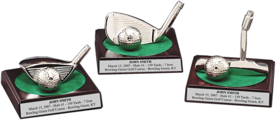 xxxRosewood Desktop Golf Trophies