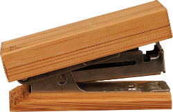 "7/8"" x 2-1/4"" Bamboo Mini Stapler - GFT051"