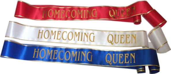 "72-inch ""Homecoming Queen"" Sash - IQSG72-HC"