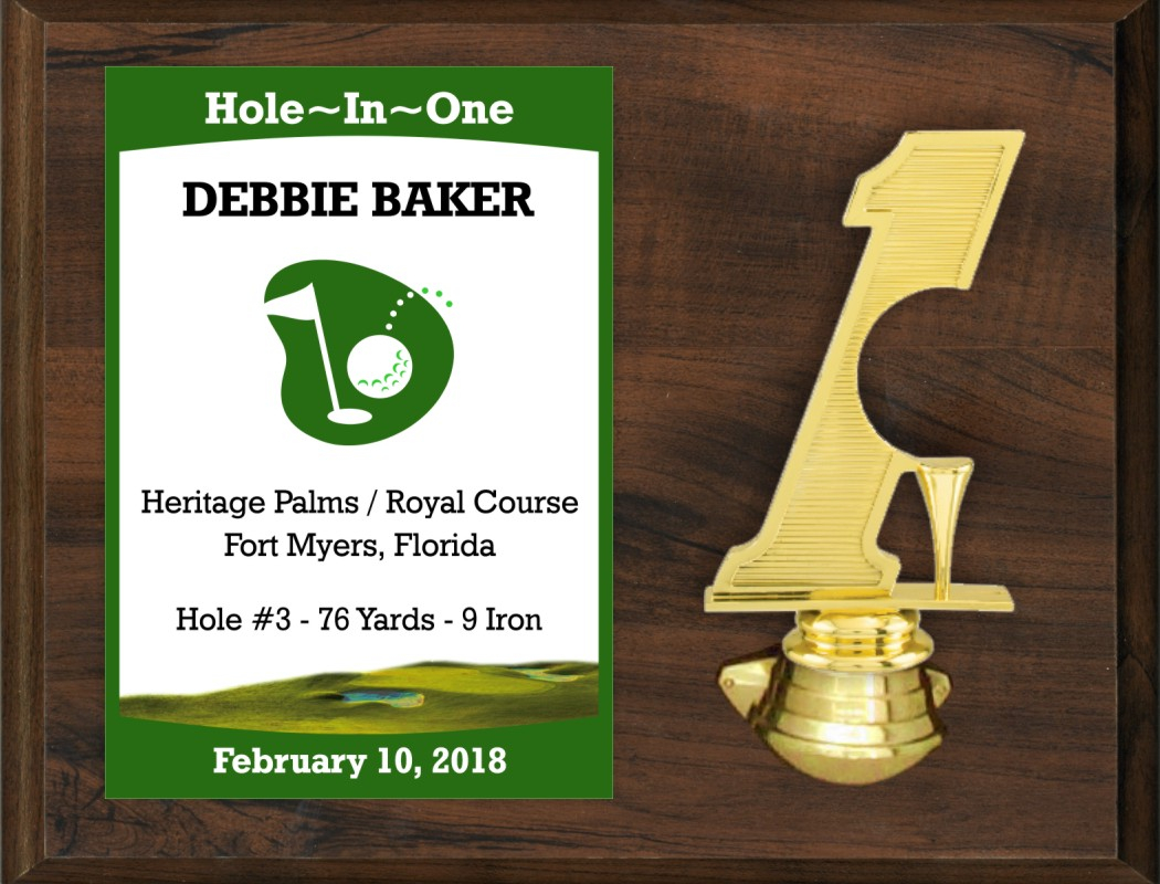 xxxIS1150 - Color Hole-in-One/Double Eagle Plaque