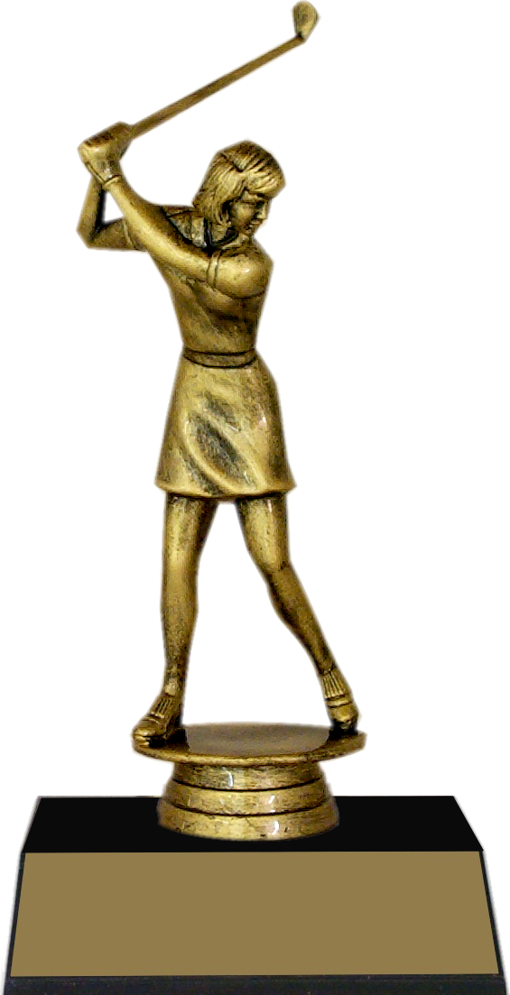 "7-inch Female Golfer ""Competitor"" Trophy - JDS43-8632"