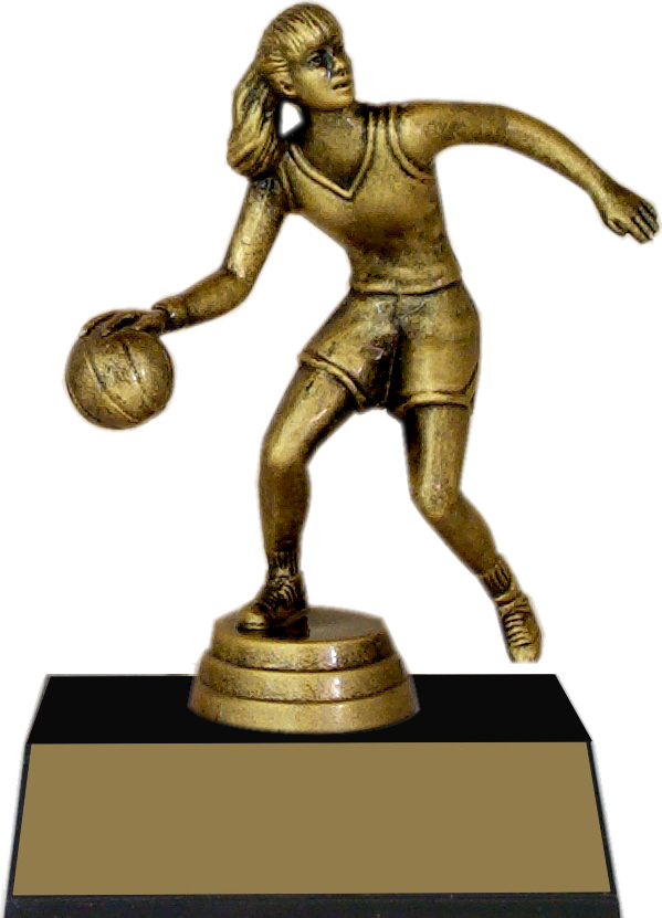 "7-inch Female Basketball Player ""Competitor"" Trophy - JDS43-8652"