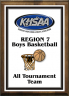 xxxKHSAA Basketball Color District/Regional All Tournament/MVP Plaques